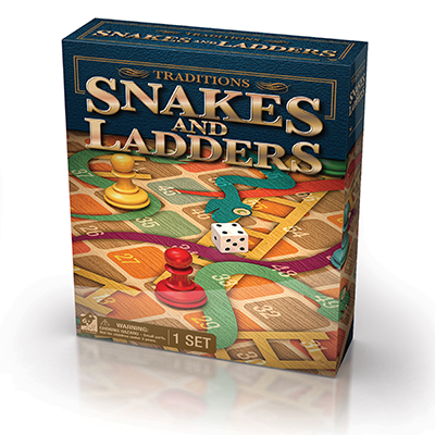 Traditions Snakes And Ladders Board Game