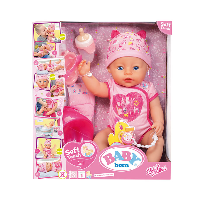 Baby Born So Soft Touch Girl Baby Born Prima Toys