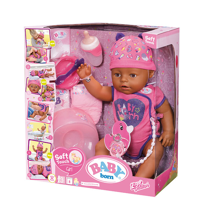 Baby Born So Soft Touch African   Baby Born   Prima Toys