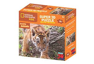 National Geographic 48pc Tiger 3D Puzzle