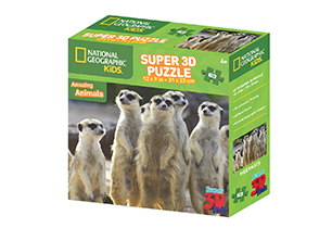 National Geographic 63pc Meerkats 3D Puzzle