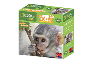 National Geographic 63pc Monkey 3D Puzzle