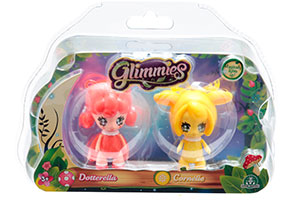 Glimmies 6cm Mini Light Up Doll 2Pack