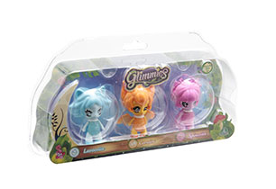 Glimmies 3 Package Mini Light Up Doll