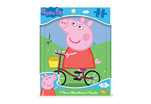Peppa Pig 9 piece Woodboard Puzzle
