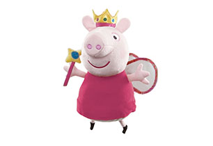 Peppa Pig- 35cm Magic Princess Peppa Plush