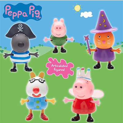 Peppa Pig Fancy Dress 5 Figure Pack
