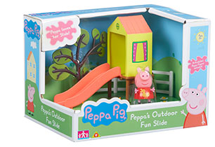 Peppa Pig Outdoor Fun Swing and Slide Playset