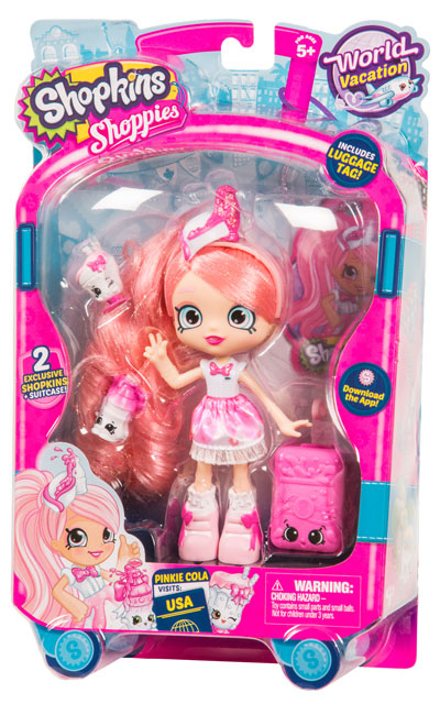 Shopkins Shoppies Themed Doll World Vacation America