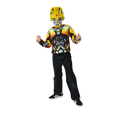 Transformer Bumble Bee Muscle Top & Mask