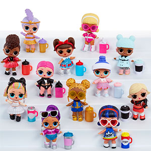 Lot 4 GLASSES 1 CROWN For LOL Surprise LiL Sisters L.O.L doll  SERIES 2 Toy