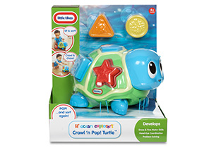 Little Tikes Ocean Explorer - Crawl 'n Pop Turtle